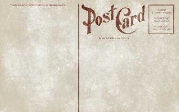 vintage postcard template download - Google Search design - printable postcard template free