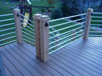 Galvanized tubing deck rail | Deck | Pinterest | Decking ...