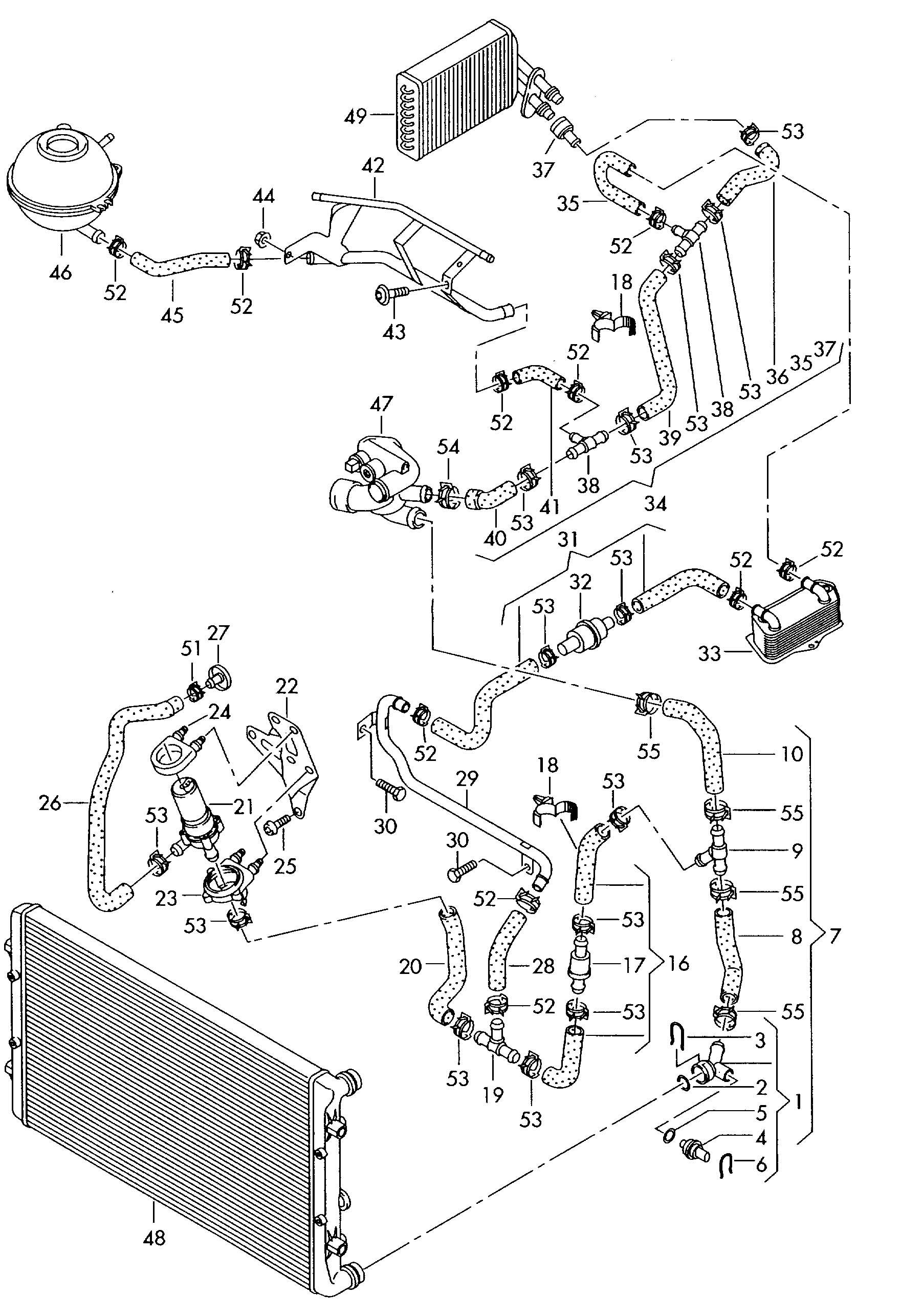cooling system diagram audi a3