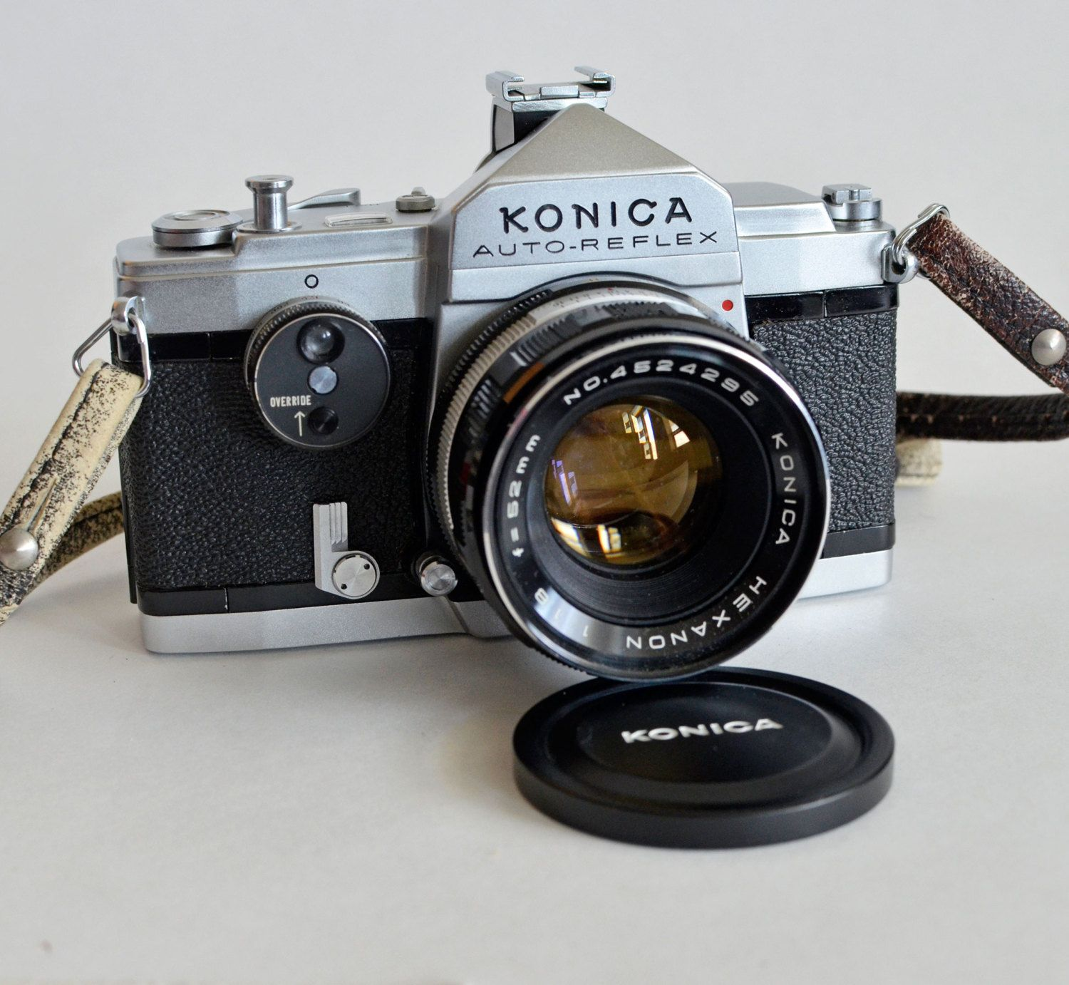 Film Camera Vintage Konica Auto Reflex Slr 35mm Film Camera W Hexanon