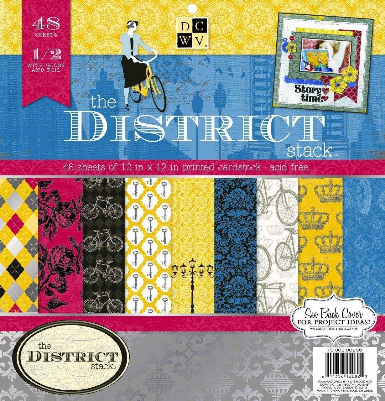 Amazon com dcwv die cuts with a view the district 12 x 12 specialty paperscrapbook paperoffices