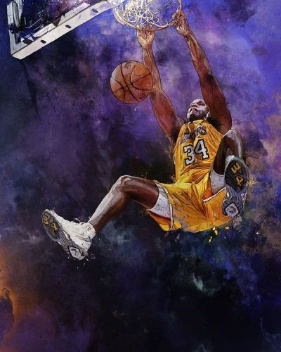 Lakers Shaquille O'Neal by Krzysztof Domaradski | Sports Art | Pinterest | NBA