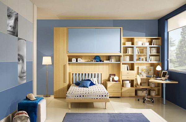 Blaue Streifen Jugendzimmer Design Idee Kinder Pinterest   Raumgestaltung  Ideen Jugendzimmer