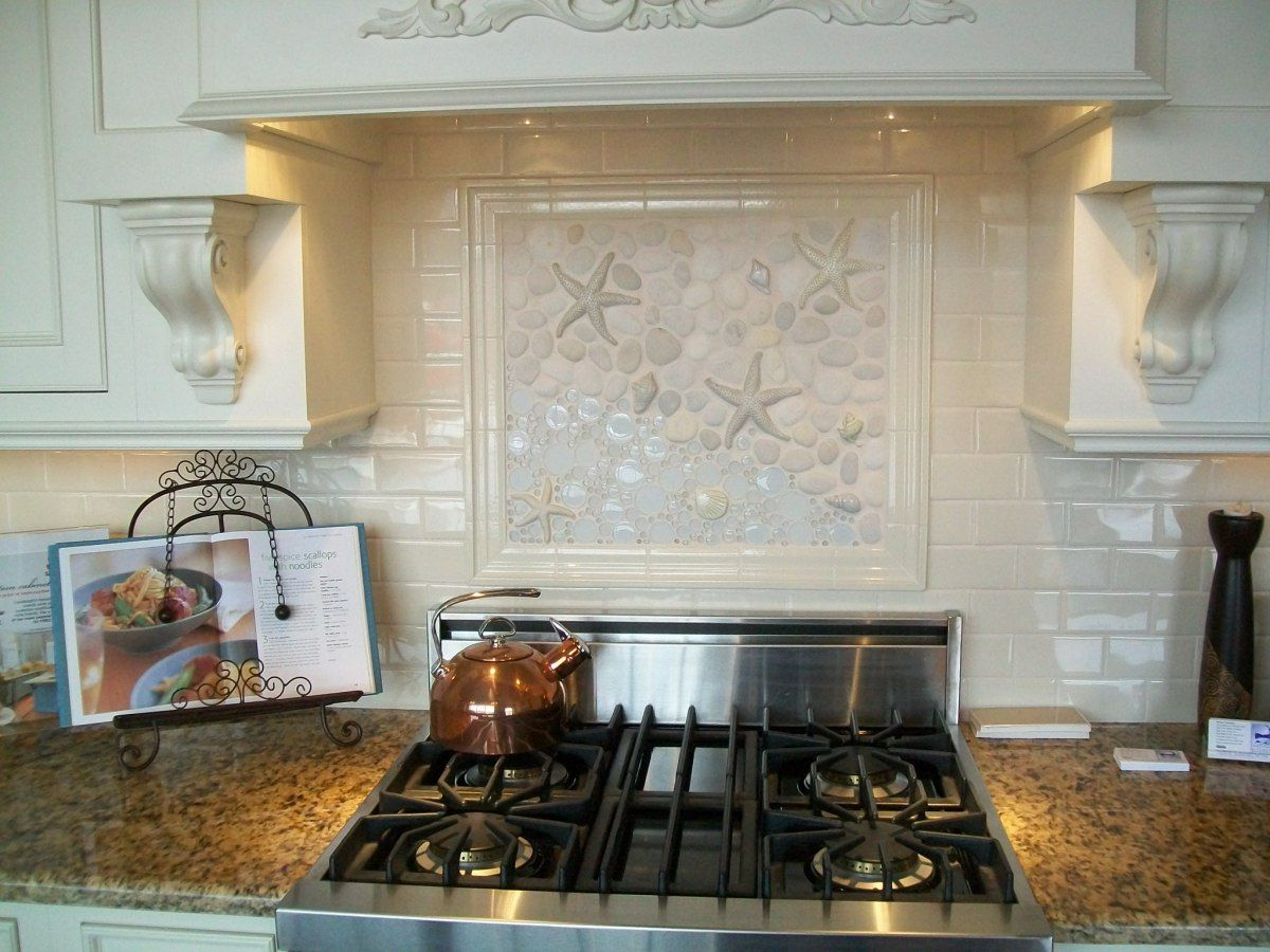 Picture Tiles For Kitchen Seashell Kitchen Backsplashes Thoughts On Seashell
