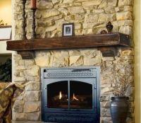 Rustic Pine Wood Fireplace Mantel ESPRESSO/DARK BROWN 72 ...