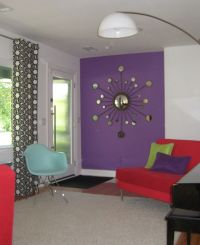 Interesting Decorating With Lavender Color Walls With Red ...