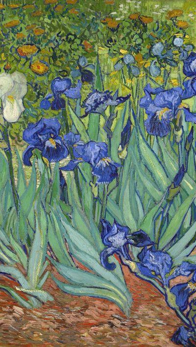 Van Gogh's painting in iPhone wallpaper | It's Van Gogh | Pinterest | Wallpaper, Vans and Paintings