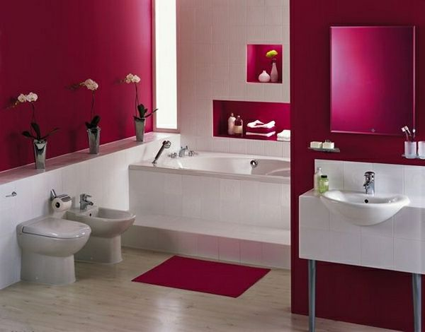 modernes badezimmer in pink weiß EINRICHTUNGSIDEEN Pinterest - badezimmer pink