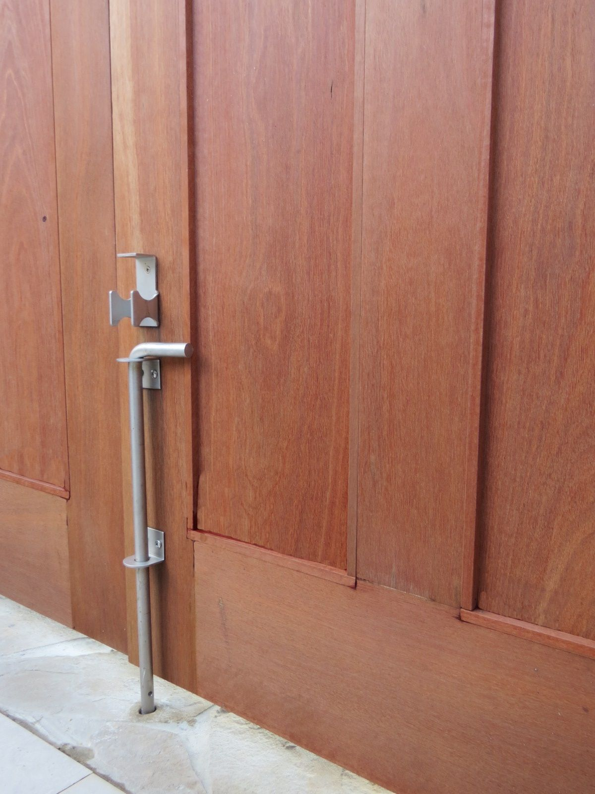 Bedroom Door No Longer Latches On Double Gates A Cane Bolt Can Be Used To Hold Open