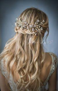 half up half down wedding hairstyle via LottieDaDesigns ...