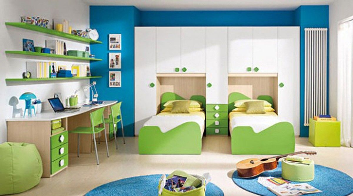 Twins kids bedroom interior design for girls