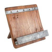Reclaimed Wood Cookbook Stand | Cookbook holder, Woods and ...