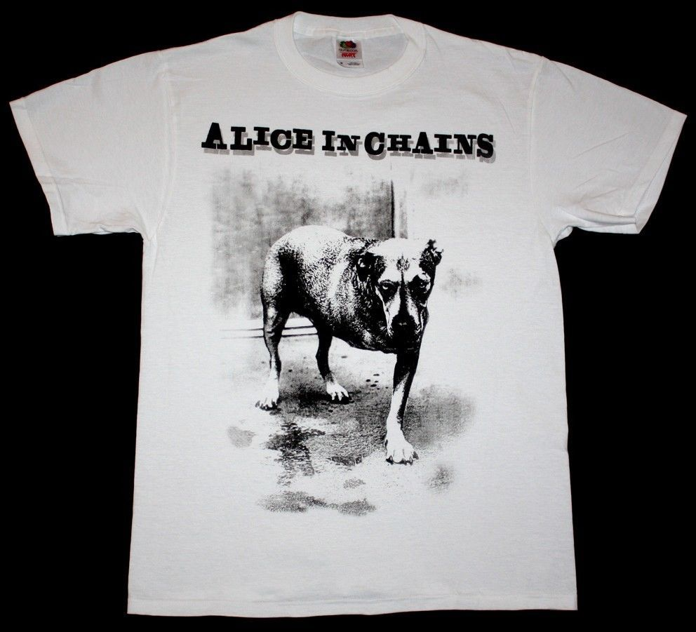 Alice in chains dog grunge seattle pearl jam soundgarden hole new white t shirt in