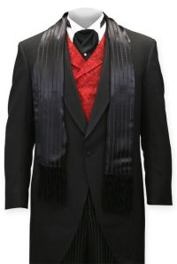 Striped Silk Opera Scarf - Black | Men's suits