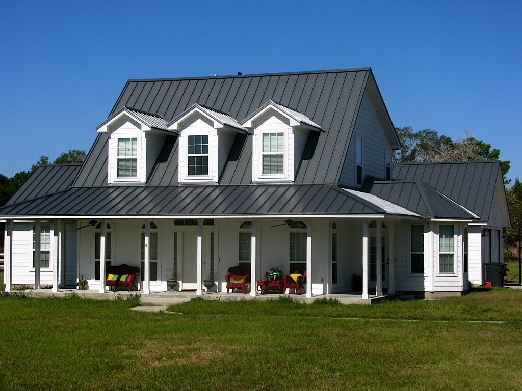 Farmhouse Exterior Colors With Metal Roof Images Of Houses With Metal Roofs Metal Roof Porches