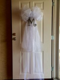 Wedding veil door decoration for Brook's shower | Projects ...