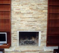 ledger fireplace | Quartzite Ledgestone Fireplace, Mill ...
