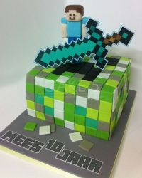 fondant minecraft steve - Google Search | minecraft cake ...