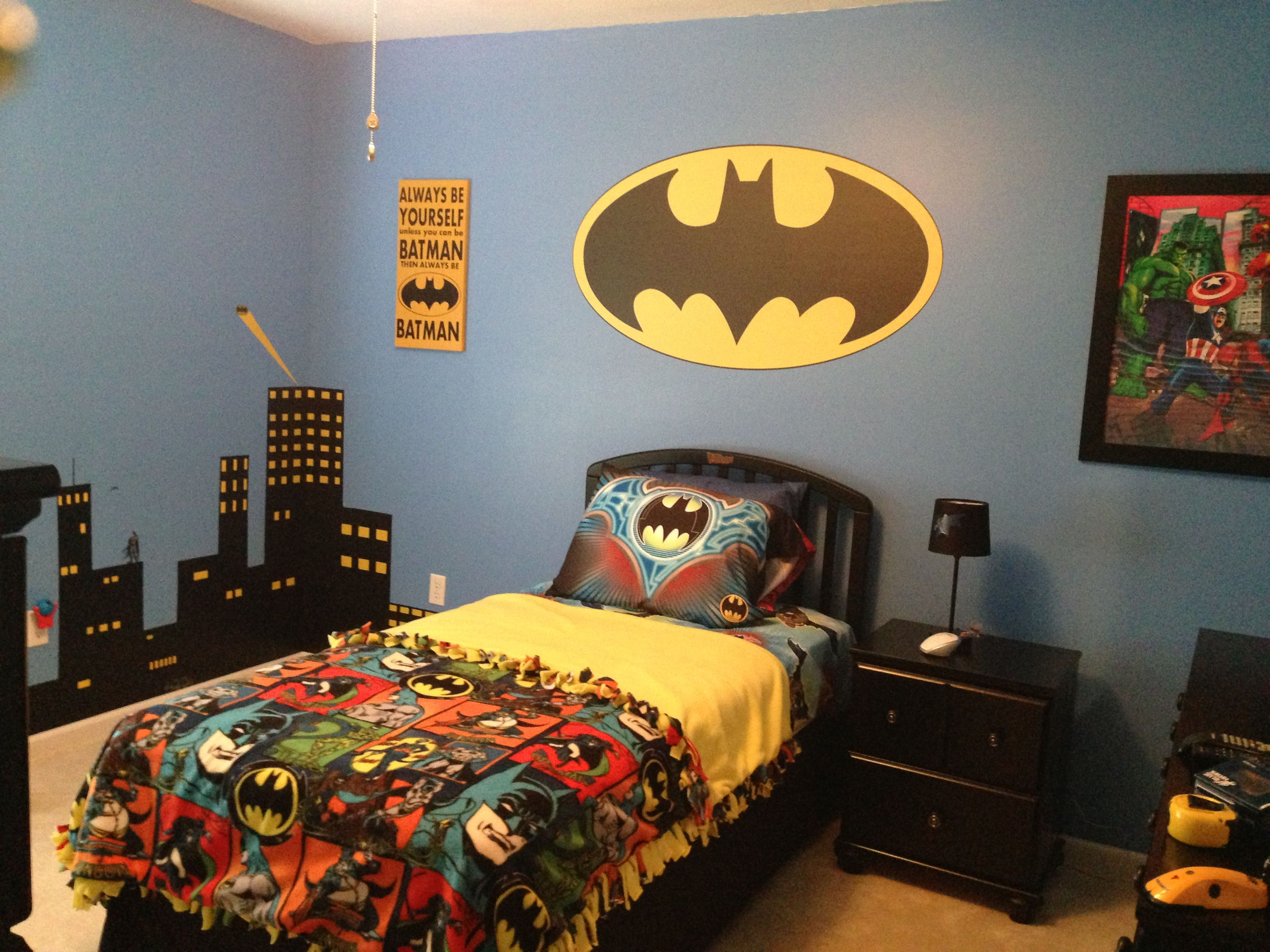 Superman Room Ideas My Son 39s Batman Bedroom Diy Pinterest Batman