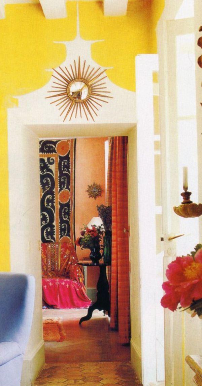 gelbe und weiße farben für wandgestaltung im hausflur - 62 - farben fur wande