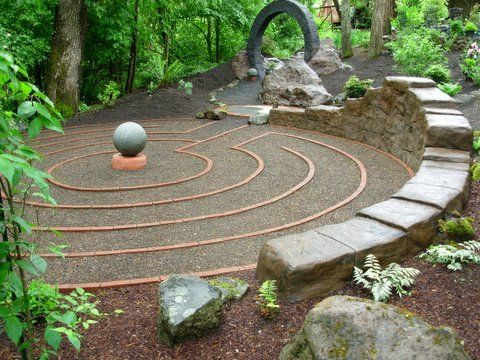 There is something very elegant and special about this design for - labyrinth garden design