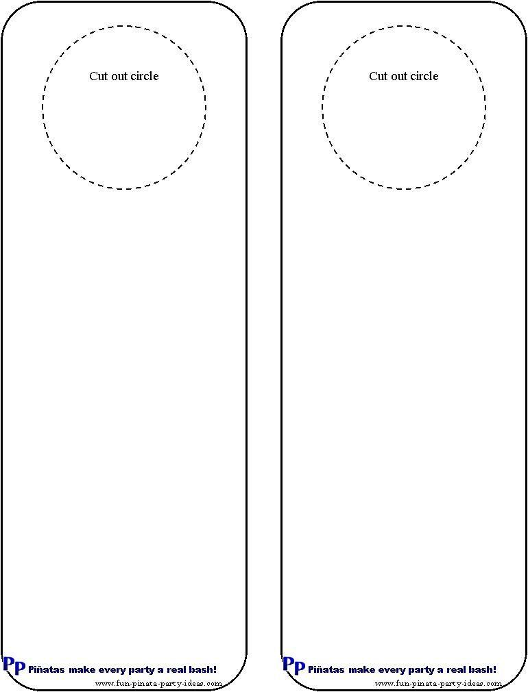 Cool idea for diy door hangers Miscellaneous Pinterest - door hanger template