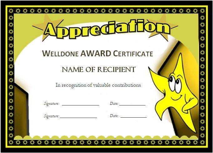 award templates for students Microsoft Word Award Certificates - awards template word