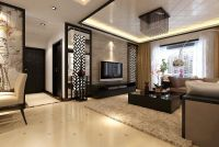 Elegant Modern Living Room Meet Chinese Style Decor Ideas ...
