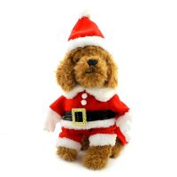 Dog Christmas Clothes Dog Santa Costume with Hat Fancy ...