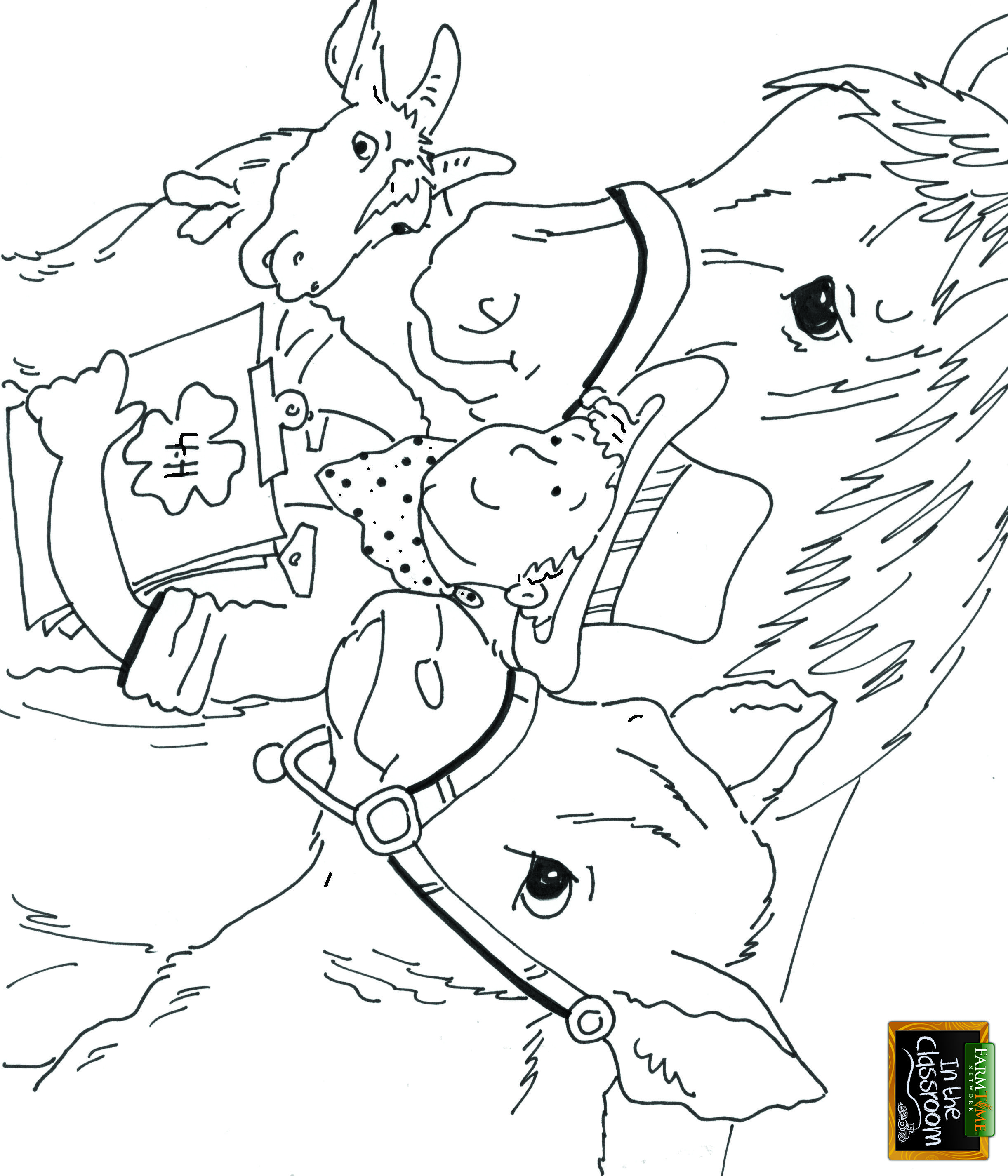 free coloring pages cows