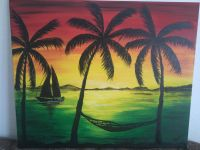 Rasta sunset :-D  | Painting ideas | Pinterest ...