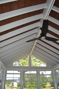 Custom Durham screened porch with Eze Breeze windows and