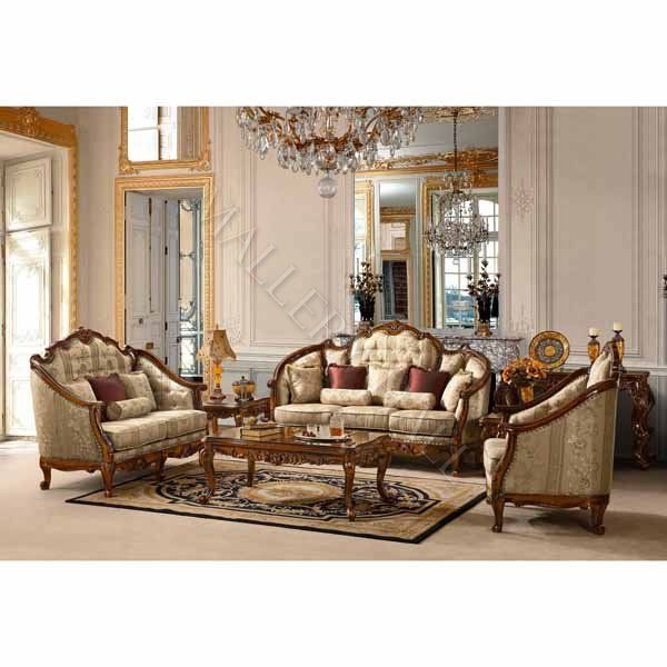 Luxury Upholstered Formal Living Room Furniture Traditional Sofa - formal living room chairs
