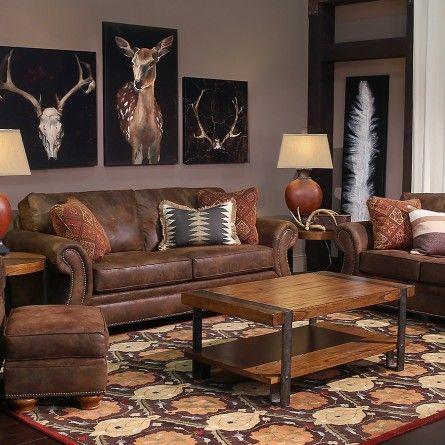 BROYHILL LARAMIE BROWN LOVESEAT - SOFA, COUCH, LOVESEAT Gallery - living room furniture houston