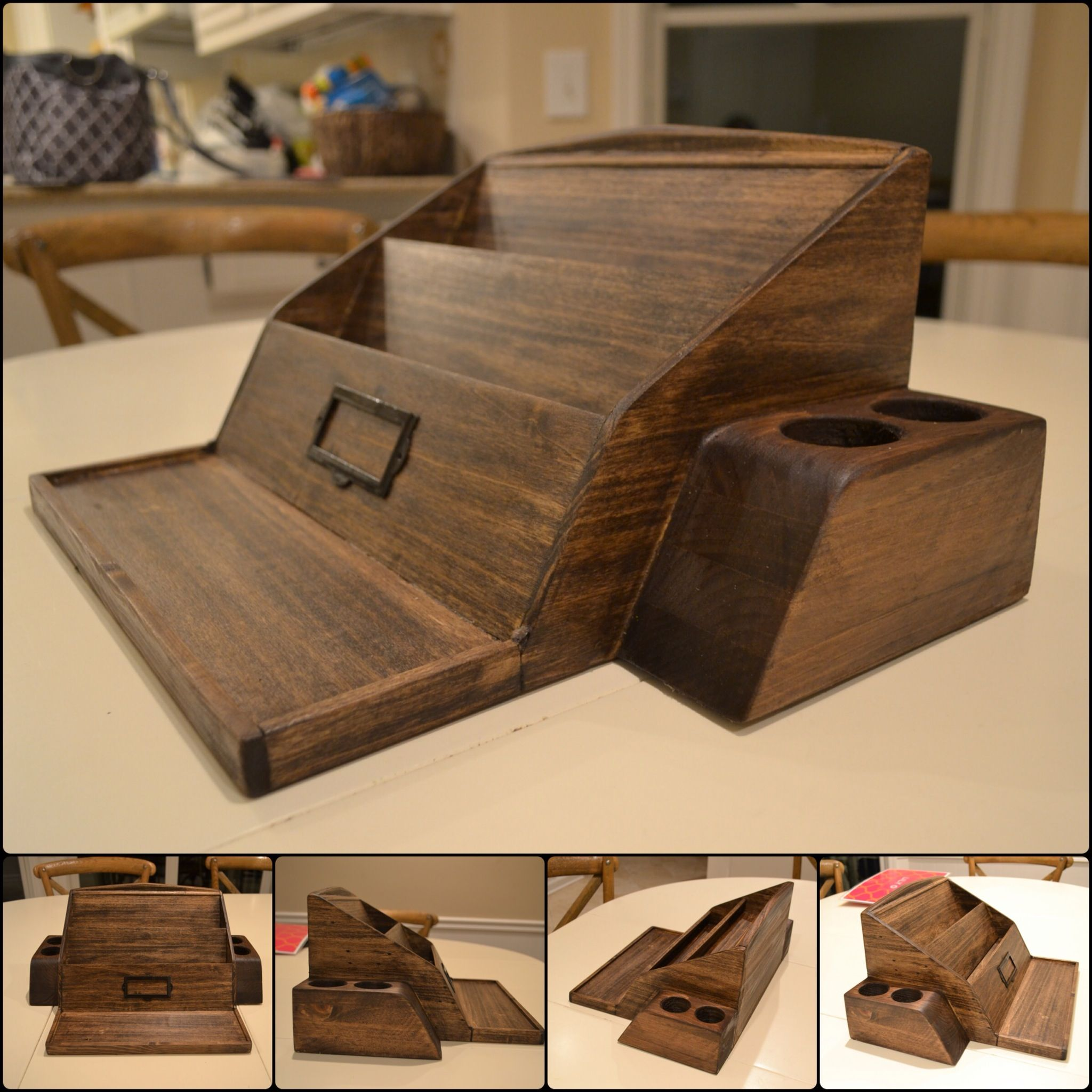 Desk Organizer Wood Wooden Poplar Desk Organizer Woodworking Projects