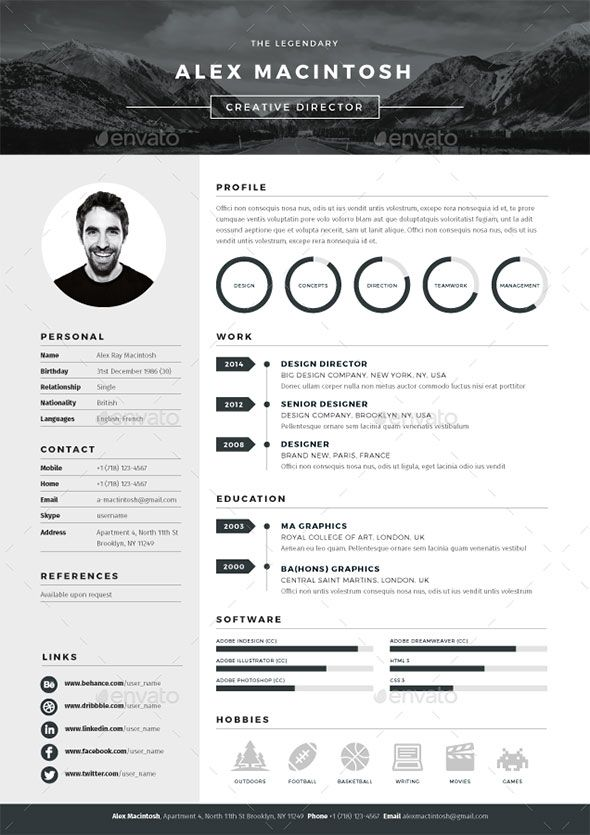 20 Best Resume Templates Cv template, Template and Curriculum - graphic design resume templates