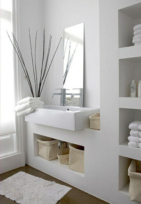 Moderne Badezimmer Ideen - coole Badezimmermöbel Einrichtungen - weies badezimmer modern gestalten