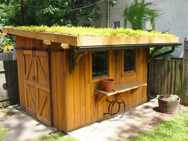 8 She-Shed Design Ideas With Staying Power Living roofs, Sliding - garden shed design