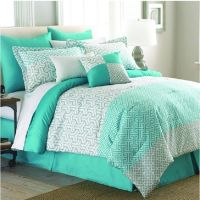 Mint Green 8-piece Comforter Set White King Queen Bedding ...