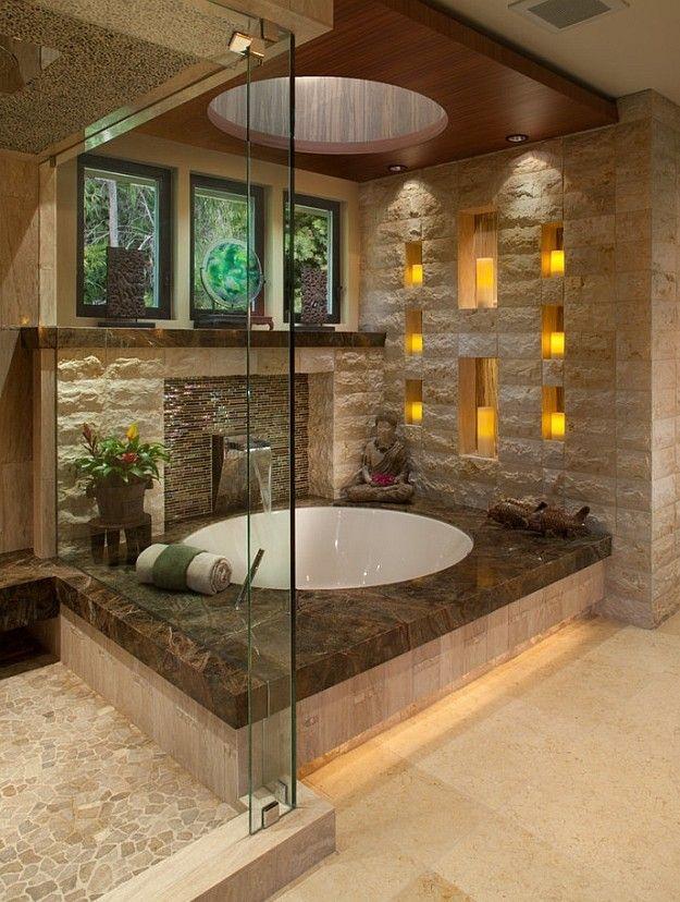 bad modern gestalten mit licht_modernes badezimmer im asiatischen - badezimmer modern gestalten