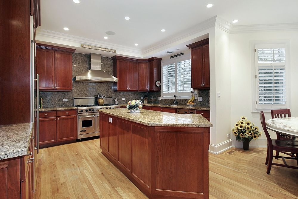 78 Best Images About Kitchen - Contrasting Wood Floors On