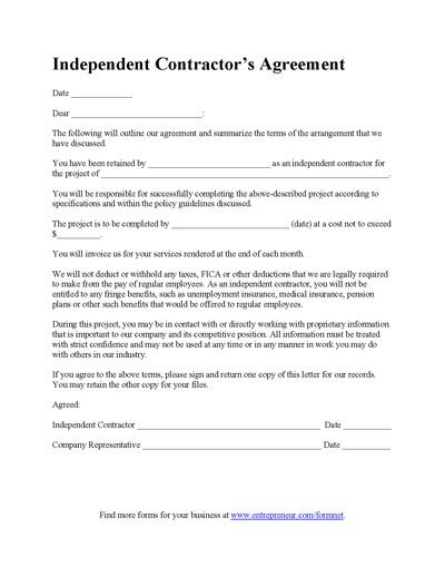 Construction Contract Template - Contractor Agreement Template - contractual agreement template