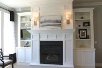 White Built In Cabinets Around Fireplace | Great Room ...