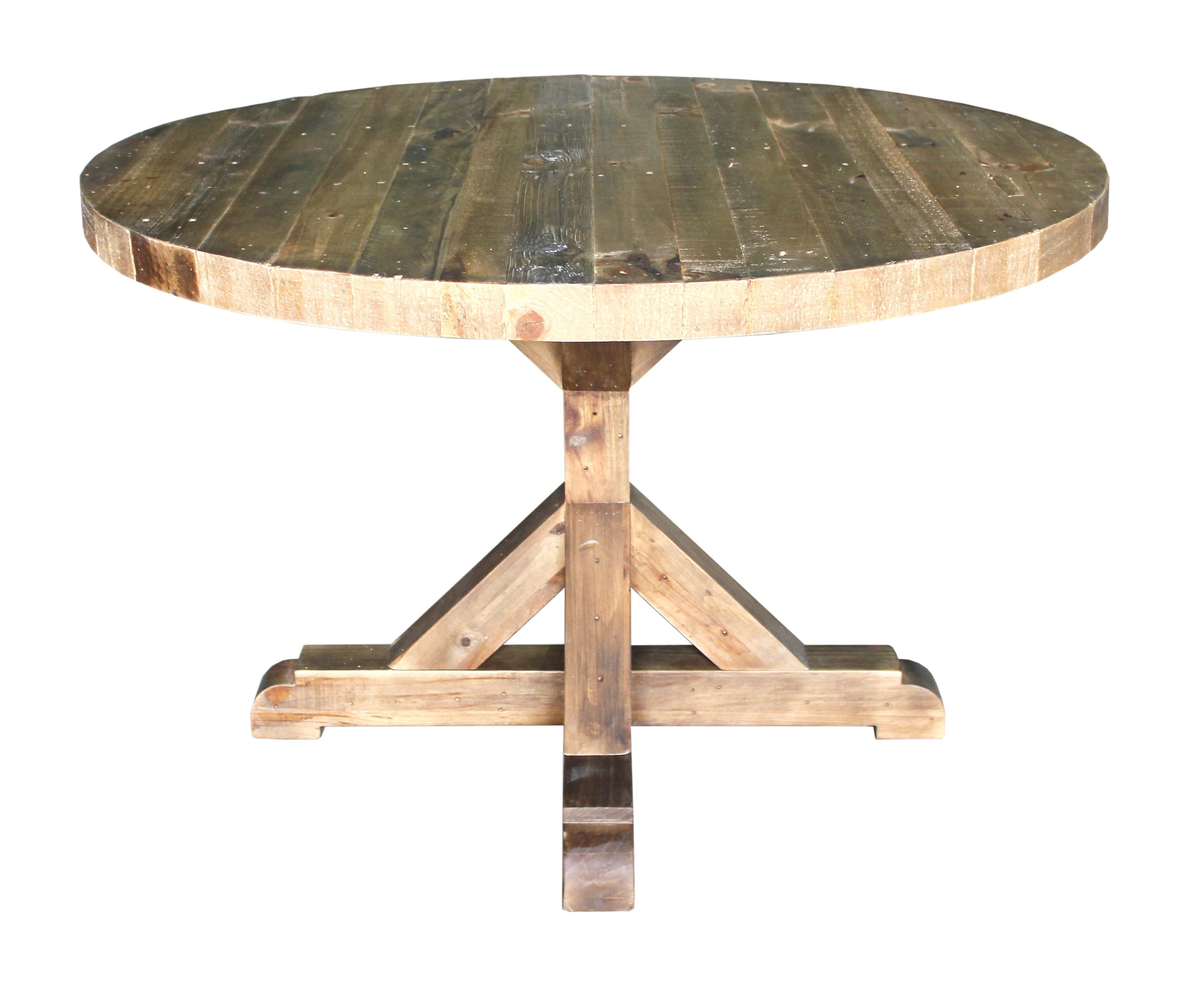 round rustic kitchen table Solid pine round dining table solid wood furniture rustic finish