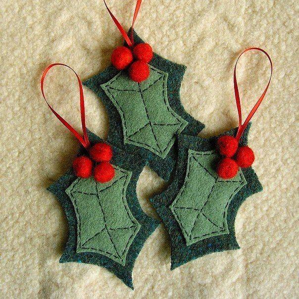 DIY Felt Christmas Ornament from Template Felt, Felt christmas - felt christmas decorations
