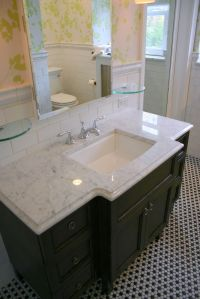 Small Bathroom hexagon Floor Tile Ideas