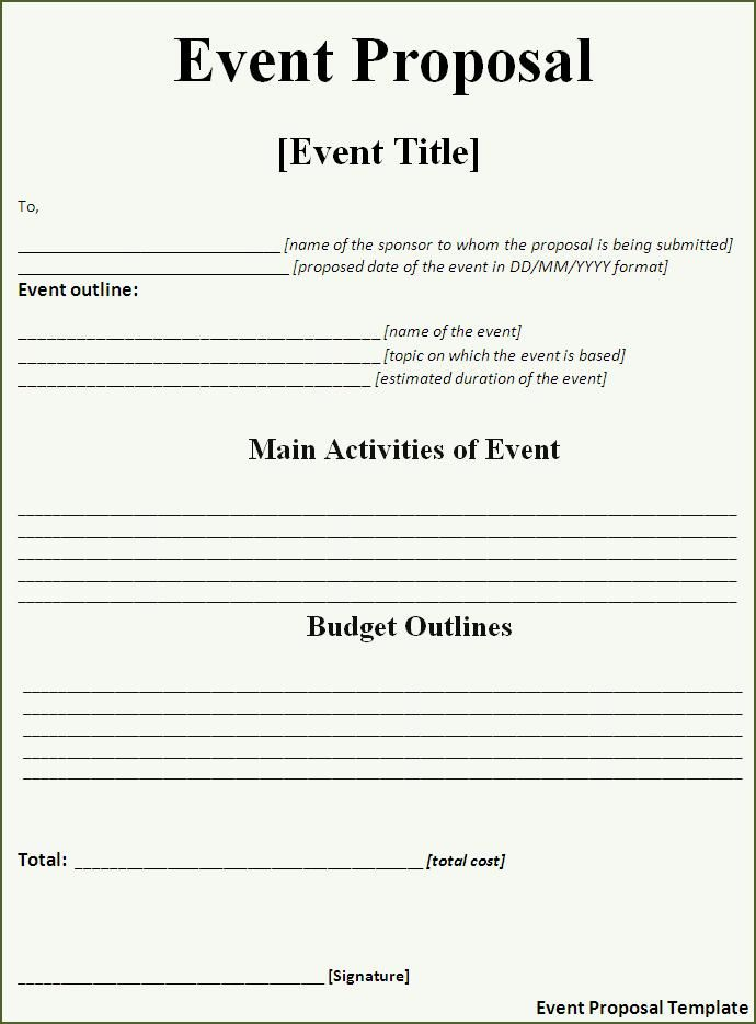 party planning menu template