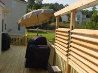 DIY Simple Louvered Privacy Fence for Deck / Patio in your ...