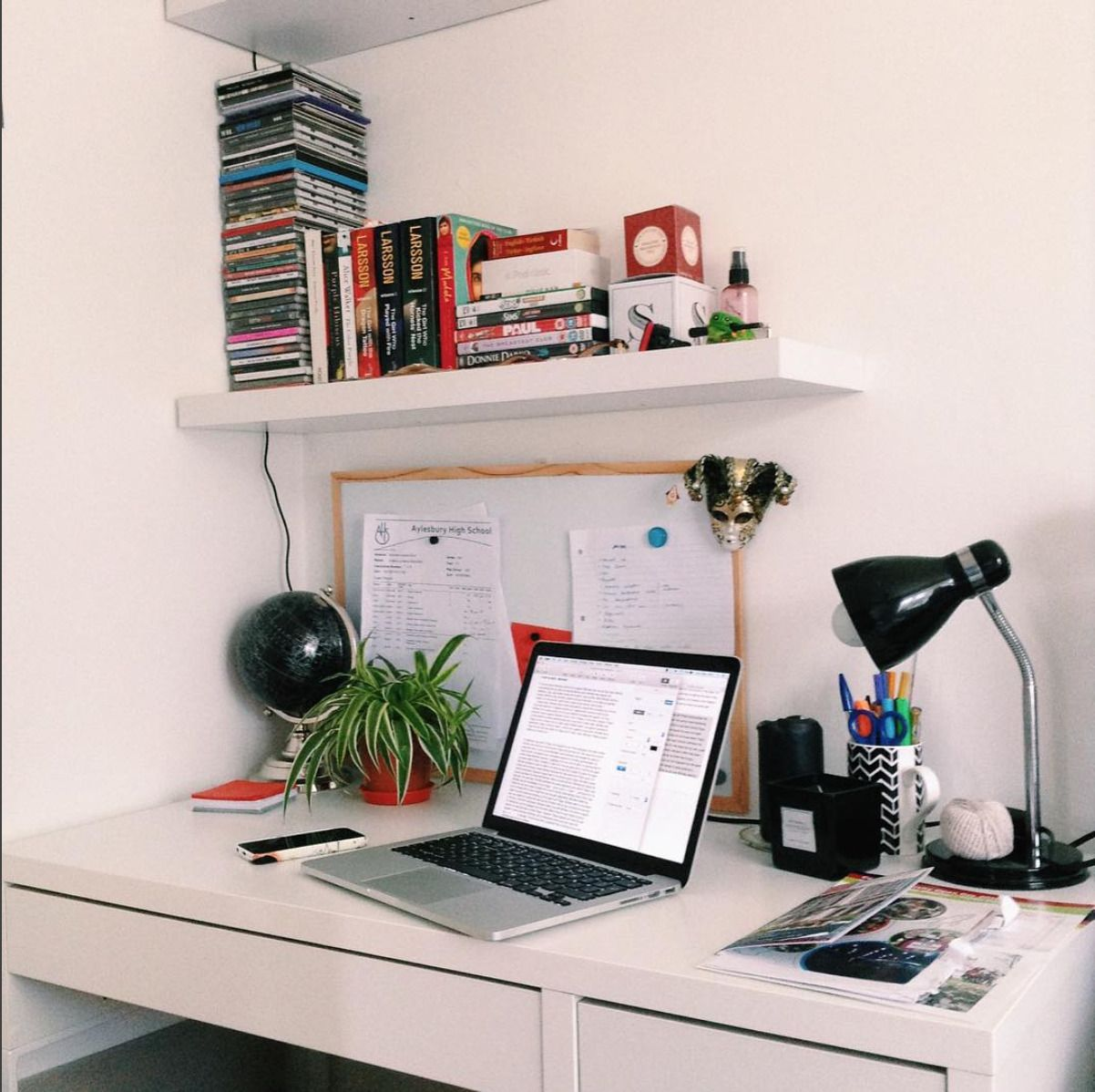 Bedroom Desk Tumblr Minimalist Studyblr Workspace On The First Day Back At