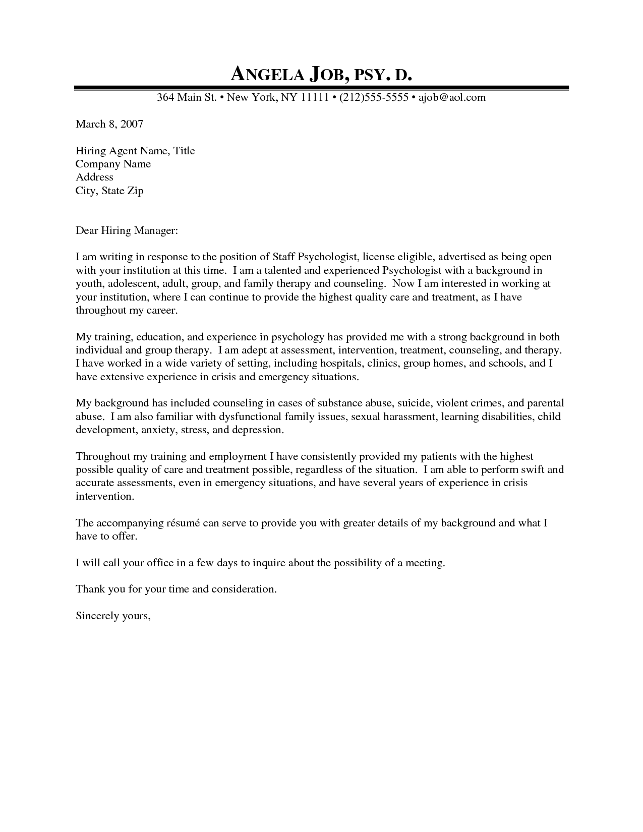 school counselor cover letter samples